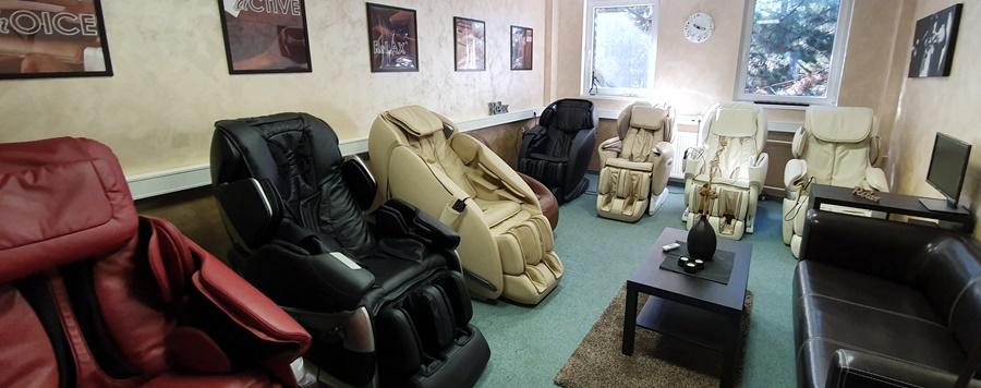 Luxusné masážne kreslá showroom Trnava skvelé ceny a veľký výber